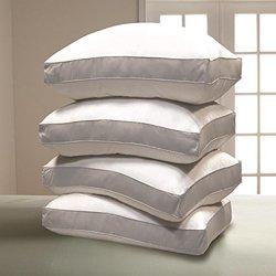 1000 TC Egyptian Cotton Cover Down Alternative Pillow - 4 pk Jumbo - White