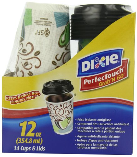Dixie To Go 12oz Cups & Lids, Project Runway Limited Edition