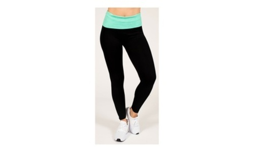 bc9e83557ec7f Women's Fold Over Waistband Yoga Legging - Multi- Size: Small (4-10 ...