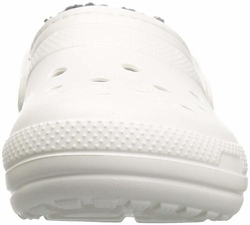 9a77f5f00 ... Crocs Women s Classic Fleece Lined Clogs - White Gray - Size  ...