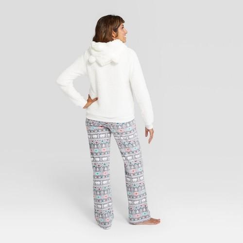 def035a14a ... Wondershop Women s Holiday Fuzzy Bear Pajama Set - White - Size  Large  ...