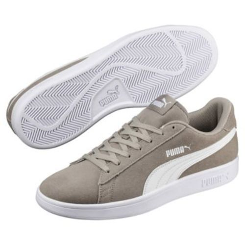 low priced 77887 65835 Puma Men's Smash v2 Suede Sneakers - Gray/White - Size: 13 - Check Back Soon