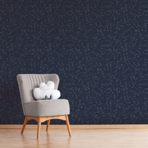 Peel Stick Wallpaper Constellation Navy Cloud Island Check Back Soon Blinq