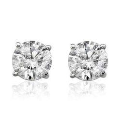 Women's 14K 1CTTW Round Diamond Solitaire Stud Earrings