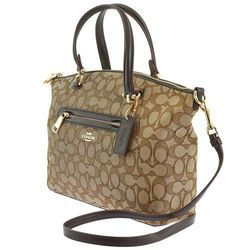 Coach Women's Signature Prairie Satchel Handbag - Brown