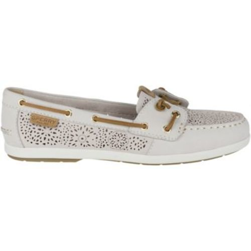 Sperry Women s Top-Sider Coil Boat Shoes - Ivory - Size 8.5 - BLINQ 2d6ae91dd