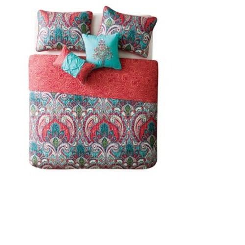Vcny 5 Piece Reversible Comforter Set Multi Size King