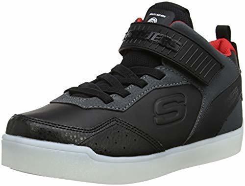 Skechers Kids  Energy Lights E-Pro Light-Up Shoes - Black Red - Size ... 5c71b515c