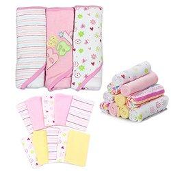 Spasilk Essential Baby Bath Gift Set - 23-Piece - Pink