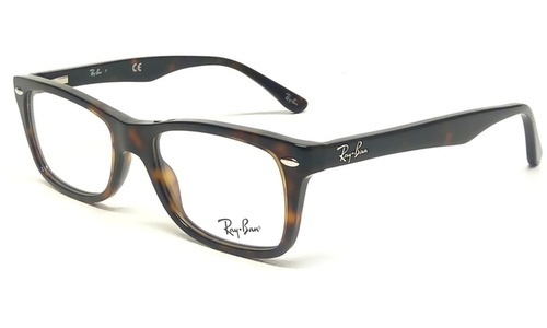 004e13a170 Ray-Ban Unisex Rectangle Eyeglasses - Dark Havana Clear - BLINQ
