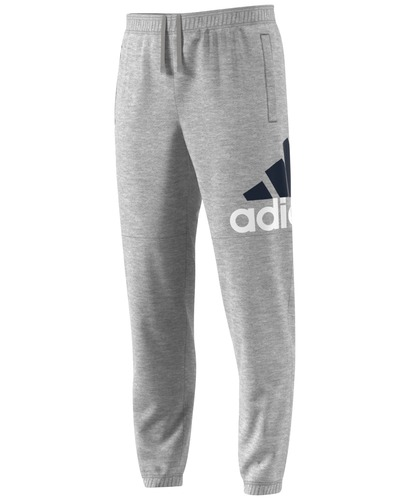 Adidas Men's Essentials Logo Jersey Pants - Gray - Size:L - Check ...
