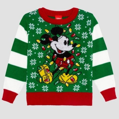 6206a3f19f9049 Toddler Boys' Disney Mickey Ugly Holiday Sweater - Green 12M - BLINQ