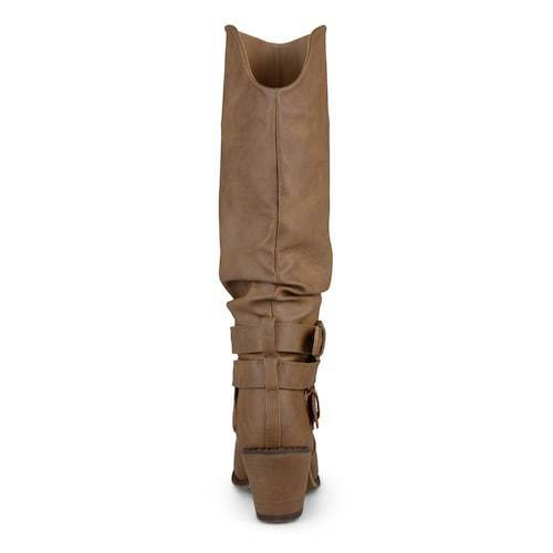 3be6cf97152e Journee Collection Women s Late Wide-Calf Boots - Taupe - Size 7.5 - BLINQ