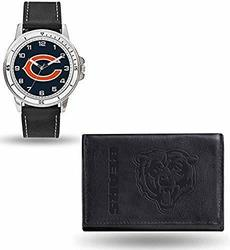 Rico Men's NFL Chicago Bears Chicago Watch & Wallet Set - Black