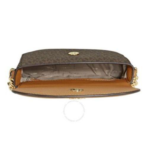 2e8395067db3 ... Michael Kors Women s Mott Half-Dome Crossbody Bag - Brown Acorn ...