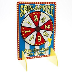 Spin-A-Prize Wheel Carnival Game with Wood touch