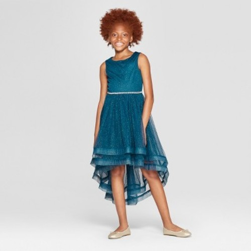 d6ffb8fed2 Lots of Love By Speechless Girls' Tulle Glitter Top Dress - Blue 16