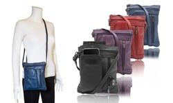 On-the-Go  Soft Leather Crossbody Bag - 7