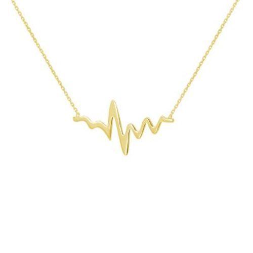 2e3b2c3e5 Midas Gold Women's 14K Yellow Gold Heartbeat Necklace - Check Back ...