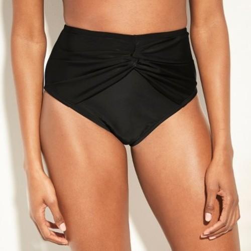 ea5ca1fc387 Women's Full Coverage Twist Front High Waist Bikini Bottom - Kona Sol Black  M