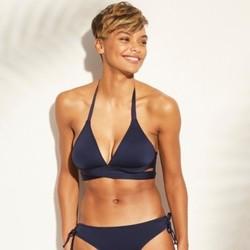 Women's Faux Wrap Halter Bikini Top -
