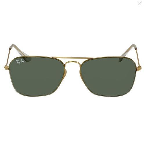 c98c1a5b7e9 Ray Ban Unisex Metal Square Sunglasses - Gold Green - BLINQ