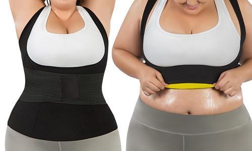 d95b2a77747 Plus Size Waist Trimmer Vest And Waist Trainer Belt - Black - Size ...