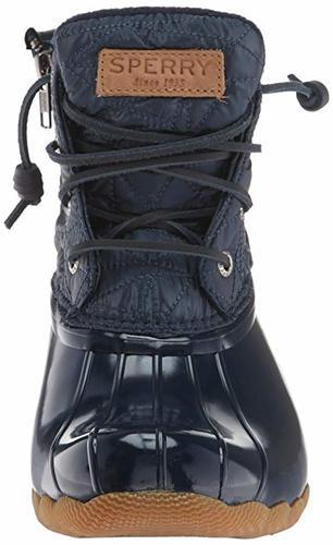 Saltwater Nylon Quilt Rain Boots - Navy
