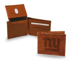 Rico NFL 'NY Giants' Embossed Billfold Wallet - Brown