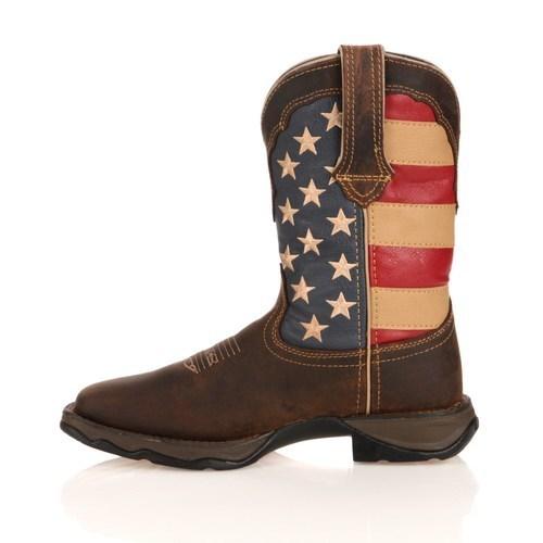 942e4206343 Durango Women's Lady Rebel American Flag Cowboy Boots - Brown - Size ...