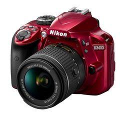 Nikon D3400 24.2MP DSLR Camera - Red (1574)