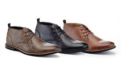 Franco vanucci Men's Sherpa  Chukka Boots -