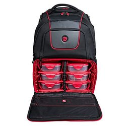 d525e73b51 ... 6 Pack Fitness Voyager Laptop Backpack with Insulated Food Storage -  Black Red ...
