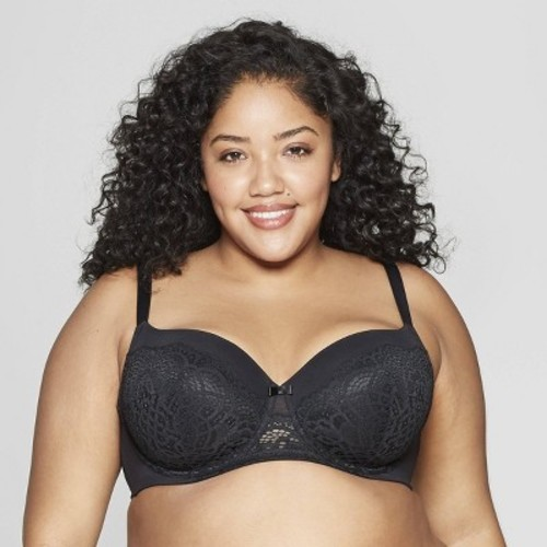 fc42bb5656ebf Women s Plus Size Lightly Lined Balconette Bra - Auden Black 42DD - BLINQ