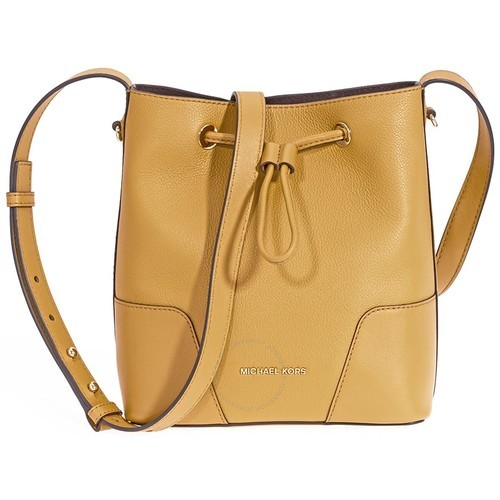 14bf7bb95ee329 Michael Kors Women's Pebbled Leather Crossbody Bag - Marigold - Size:S -  BLINQ