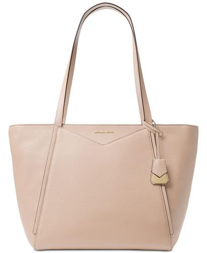 4207342c256e Michael Kors Women's Leather Tote Bag - Pink/Gold - Size:L - BLINQ