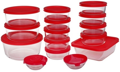 Genicook Oven Safe Glass Food Storage Container Sets 30 Piece   Clear    Check Back Soon