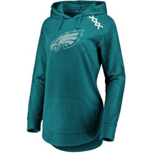 online store 81b65 555ec Philadelphia Eagles Women's Leveraging Momentum Lightweight Hoodie L