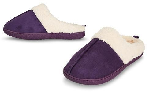 7ee57cf47a1 Floopi Women s Fur Lined Clog Slippers with Foam - Purple - Size L(9 ...