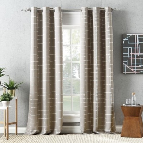 Sun Zero Saki Blackout Grommet Curtain Panel