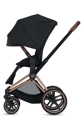 Cybex Priam Rose Gold Stroller With All Terrain Wheels Black