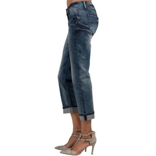 Standards & Practices Women's Low Rise Roll Jeans - Blue - Size: 32