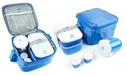 Bentgo Insulated Lunch Box 6 Piece Set - Blue 241958