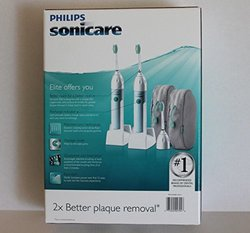 Philips Sonicare Elite Power Toothbrush - 2 Handles/Charger bases