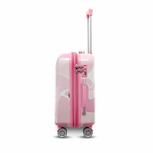 486d0f238ae1 Gabbiano Camo Hardside Spinner Suitcase Set 3 Piece - Pink - Check ...