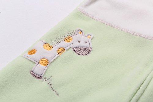 Halo sleepsack applique micro fleece wearable blanket lime green