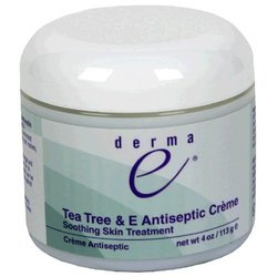 Derma E Tea Tree & E Antiseptic Creme Pack of 3 - Size: 4 oz