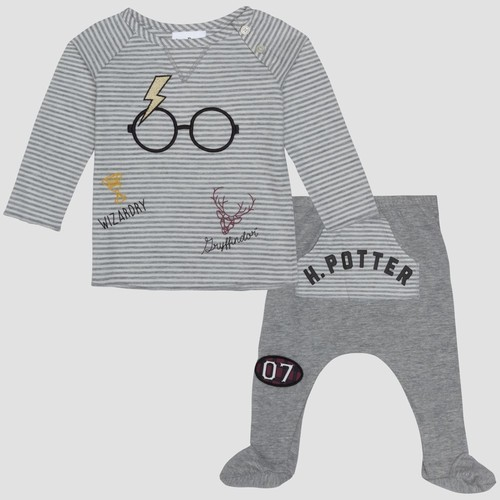 83f3155a4 Harry Potter Baby Boy's T-Shirt & Joggers 2 Piece - Gray - Size: 3 ...