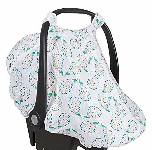 Magnificent Bebe Au Lait Baby Premium Muslin Peacocks Car Seat Cover Pdpeps Interior Chair Design Pdpepsorg