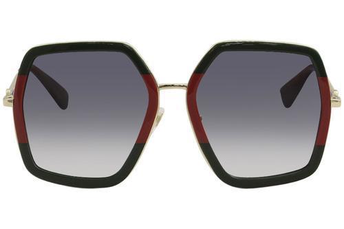 3caea7268 Gucci Women's 56mm Square Sunglasses - Gray/Green-Gold (GCGG0106S00756) ...
